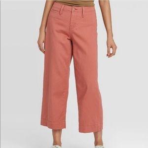 Women's A New Day High-Rise Wide Leg Crop Pants 12